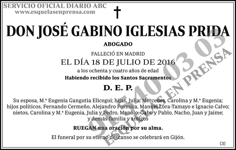 José Gabino Iglesias Prida